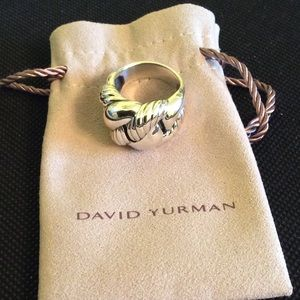 David Yurman Curb Chain Ring! Size 8!